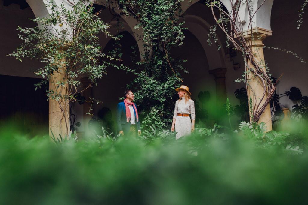 Preboda en los patios de Córdoba